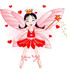 red fairy vector image vector image