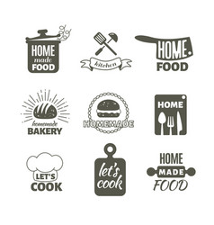 retro kitchen cooking at home and handmade vector image