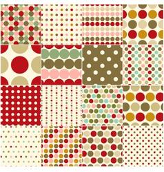 seamless christmas polka dots pattern vector image vector image