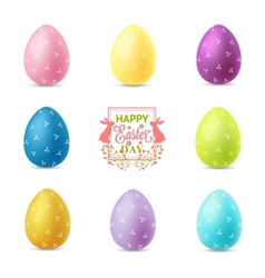 Set of easter eggs isolated on white background vector image vector image