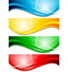 wave banners vector image vector image