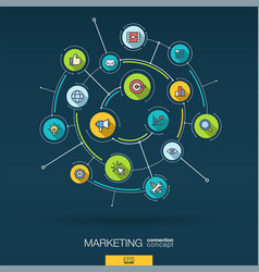 abstract marketing and seo background digital vector image