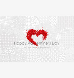 abstract shape with red volumetric rose vector image