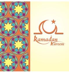 Arabic Islamic card of Ramadan Kareem vector