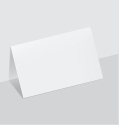 blanc paper sheet vector image