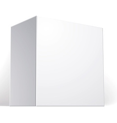 blank box isolated on white background template vector image