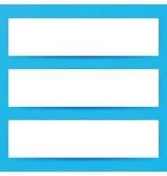 Blank Horizontal Web Banners Mockup vector
