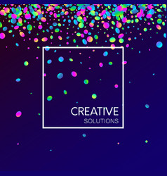 blue creative solutions background with colorful vector image