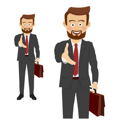 businessman giving his hand for handshake vector image