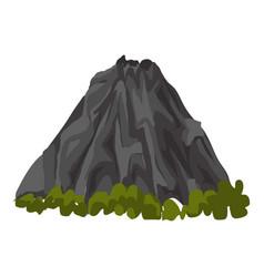 Calm volcano icon cartoon style vector
