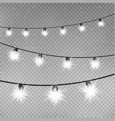 christmas snowflake lamps template vector image