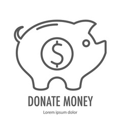 coin in pig vector image