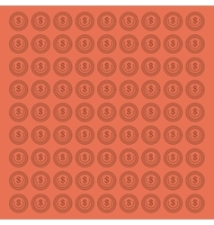 Coin pattern background image vector