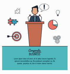 colorful infographic of corporate business with vector image