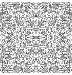 Coloring page ornamental pattern vector