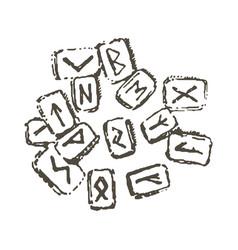 concept of runes item icon vector image
