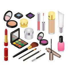 cosmetic beauty make up cosmetology vector image