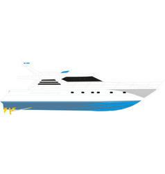 cruise ship travel and tourism vector image