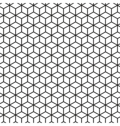 Cubes geometric seamless pattern vector image