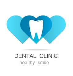dental clinic healthy smile logo template vector image