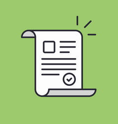 Document approved icon suitable for info graphics vector