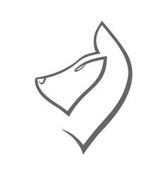 dog symbol icon on white vector image