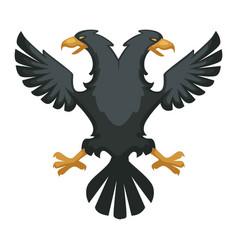double eagle heraldic byzantium symbol wing vector image
