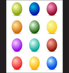 easter eggs color spectrum background vector image
