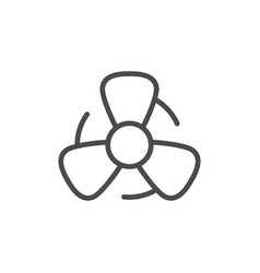 Fan line outline icon and wind equipment vector