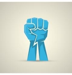 freedom concept fist icon vector image