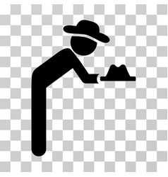 gentleman servant icon vector image