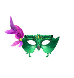 green owl mask composition vector image