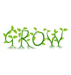 Grow concept vector