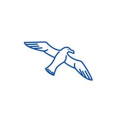 gullseagull line icon concept gullseagull flat vector image