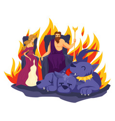 Hades and persephone couple greek character vector