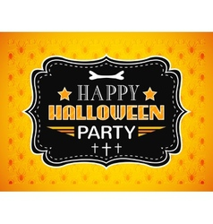 Happy Halloween Party card Typography letters font vector image