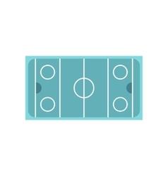 Ice hockey rink icon flat style vector image