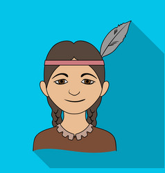 Indianhuman race single icon in flat style vector