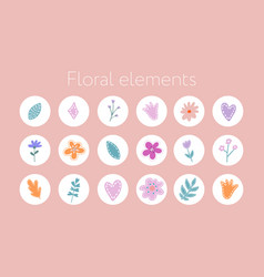 Instagram story highlight icon set hand drawn vector