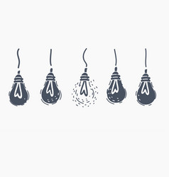 lamps hanging horizontal banner vector image