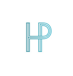 letter h p logo icon design template elements vector image