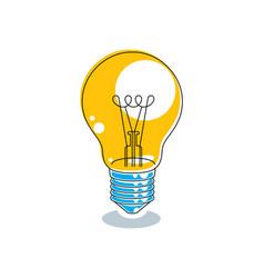 Light bulb idea concept isolated on vector