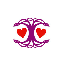 love couple abstract logo vector image