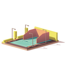 low poly racquetball court vector image