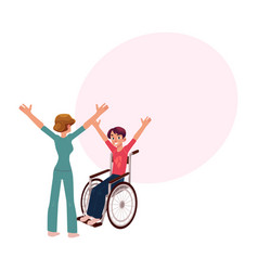 medical rehabilitation wheelchair gymnastics vector image