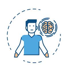 mental health brain treatment and human ability vector image