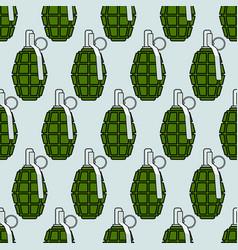 Military grenade pattern vector