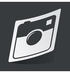 Monochrome square camera sticker vector
