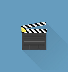 movie clapper board icon vector image