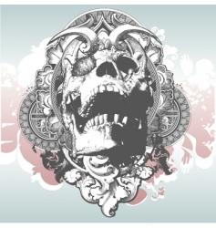 Mythical skull illustration vector